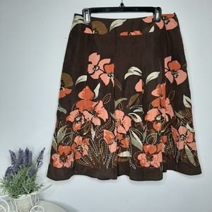 Talbots Silk Floral Skirt size 12